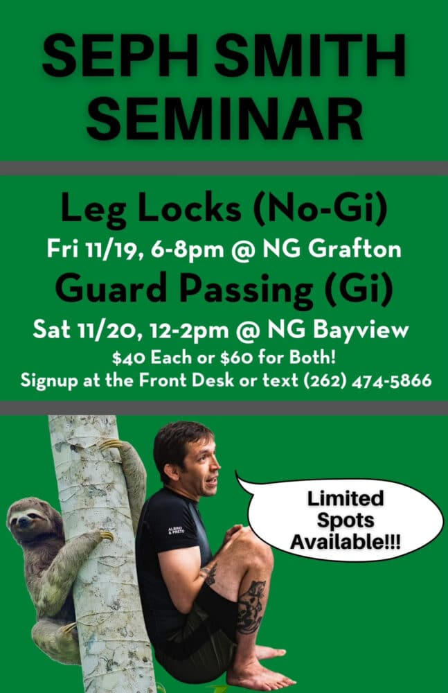 Seph Smith BJJ Clinic comes to Bayview